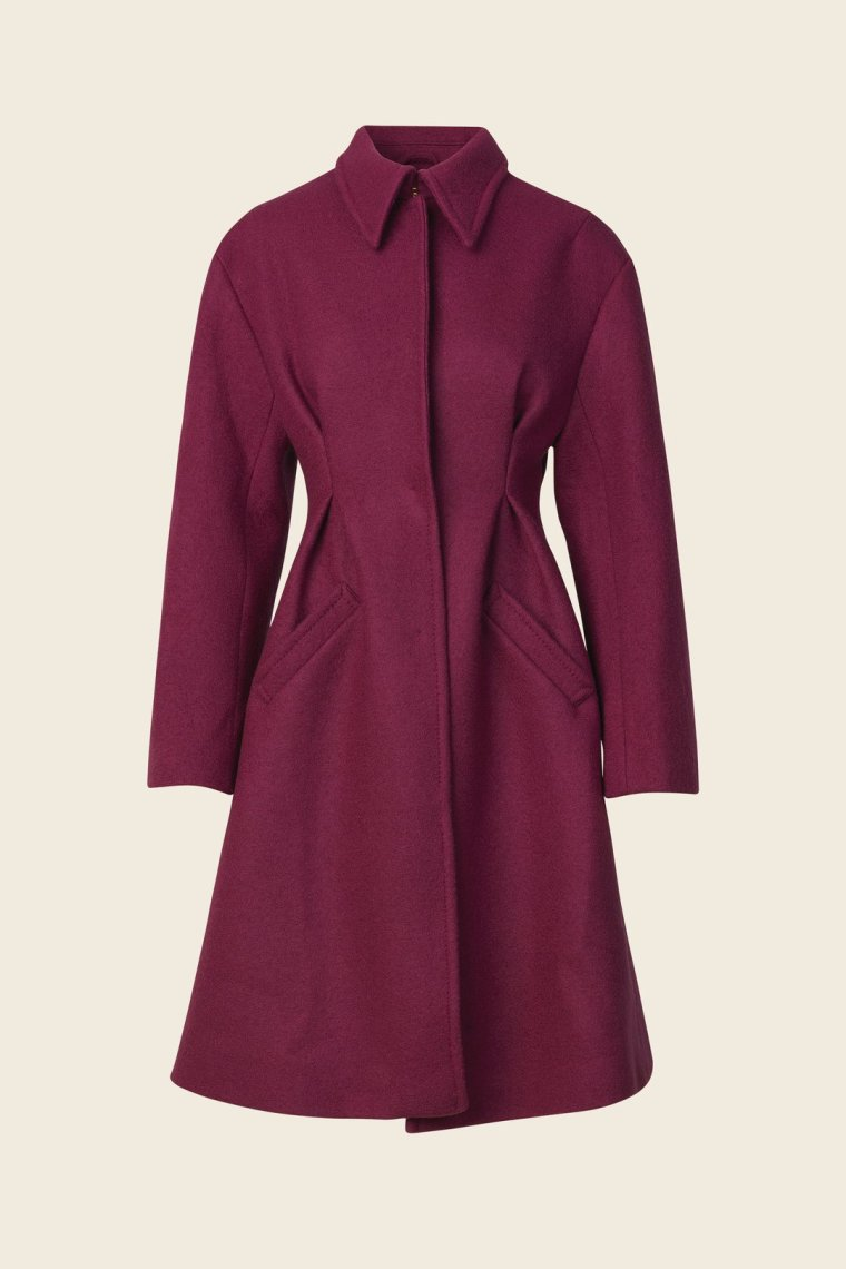 callie wool coat magenta stine goya