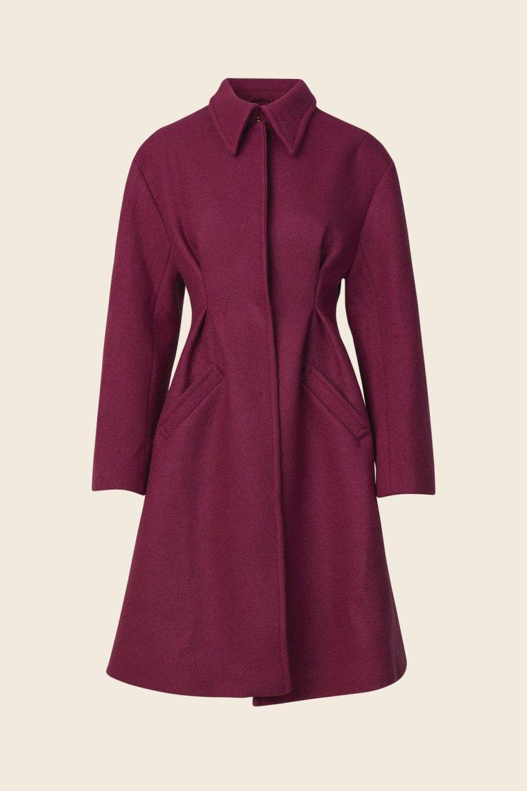 callie wool coat magenta stine goya